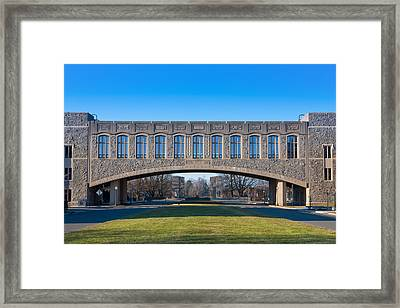 Torgersen Hall At Virginia Tech Framed Print