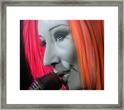 ' Tori Amos ' Framed Print by Christian Chapman Art