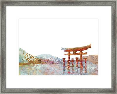 Torii Gate Colorsplash Framed Print