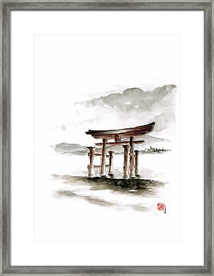 Torii Gate Framed Print by Mariusz Szmerdt