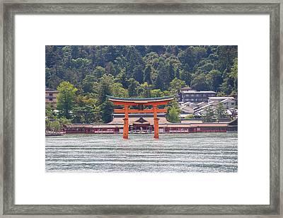 Torii Gate Of Miyajima Framed Print