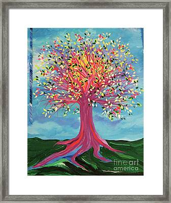 Framed Print featuring the painting Tori's Tree By Jrr by First Star Art