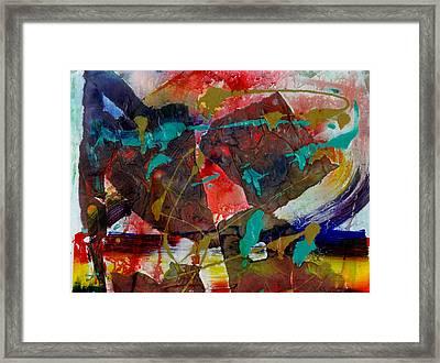 Torn Asunder Framed Print by Phyllis Anne Taylor Pannet Art Studio
