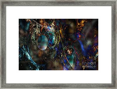 Torn Nets Framed Print by Klara Acel