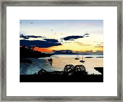 Torn Sunset Framed Print by Andrew Harrison