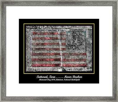 Tattered Torn . . . . . Never Broken - Memorial Day 2014 Antietam National Battlefield Framed Print by Michael Mazaika