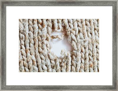Torn Wool Framed Print