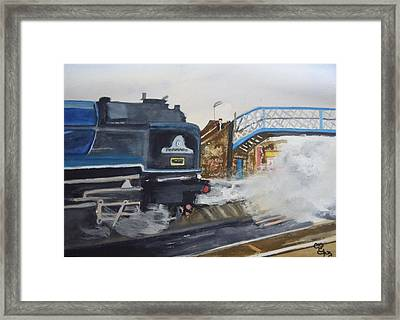 Tornado And Chertsey Station Bridge Framed Print