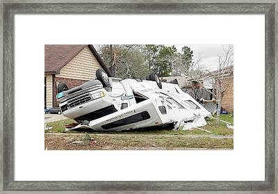 Tornado Damage Framed Print by Jim Edds