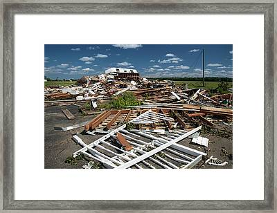 Tornado Damage Framed Print