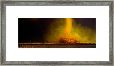 Tornado In A Field Framed Print by Panoramic Images