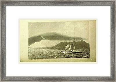 Tornado, Narrative Of A Voyage Of Observation Among Framed Print by Litz Collection