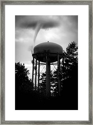 Framed Print featuring the photograph Tornado Tower by Aaron Berg