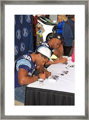 Toronto Argonauts Players Signing Autographs Framed Print by Valentino Visentini