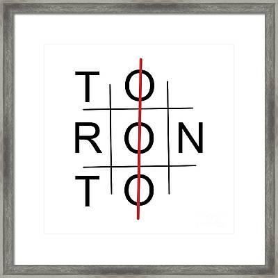 Toronto As Tic Tac Toe Game Framed Print
