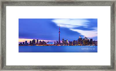 Toronto Bay Panorama Framed Print