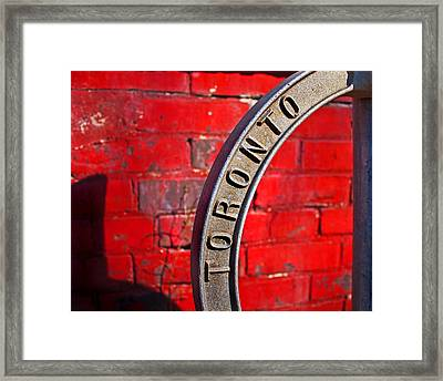 Toronto Bicycle Ring Framed Print by Brian Carson