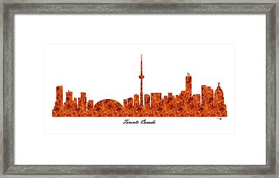 Toronto Canada Raging Fire Skyline Framed Print