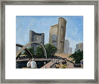 Toronto City Hall Framed Print by Ian  MacDonald