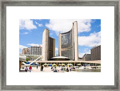 Toronto City Hall, Nathan Phillips Framed Print