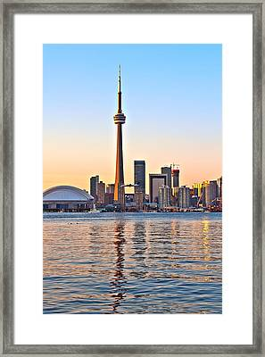 Framed Print featuring the photograph Toronto City View by Marek Poplawski