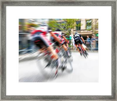 Toronto Criterium Bicycle Race Special Fx - Lucky Number 13 Framed Print by Brian Carson