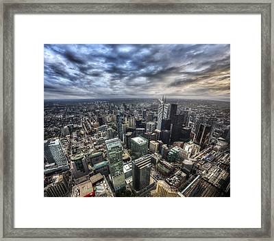 Framed Print featuring the photograph Toronto Daybreak by Shawn Everhart