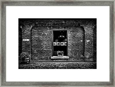 Toronto Distillery District Art Gallery Window Framed Print by Brian Carson