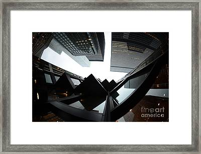 Toronto Financial District Framed Print by Wayne  Cook
