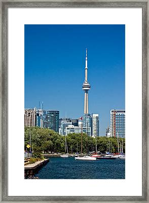 Toronto Harbour Framed Print by Steve Harrington