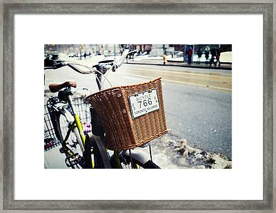 Toronto Islands Bicycle Framed Print by Tanya Harrison