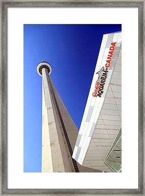 Toronto Landmarks Framed Print by Valentino Visentini