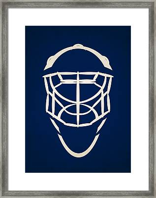 Toronto Maple Leafs Goalie Mask Framed Print by Joe Hamilton