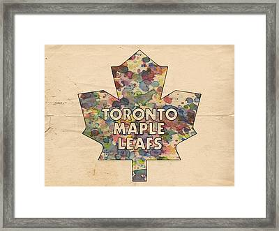 Toronto Maple Leafs Hockey Poster Framed Print by Florian Rodarte