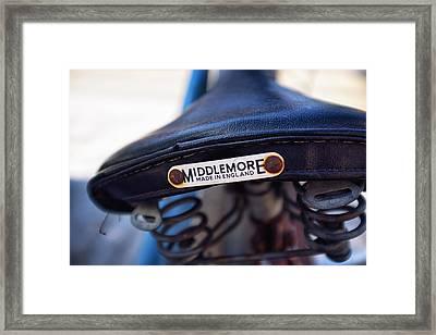 Toronto Middlemore Bike Seat Framed Print by Tanya Harrison