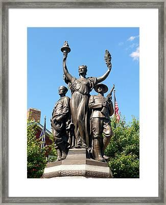 Toronto Monument Framed Print