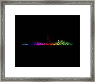 Toronto Rainbow Framed Print by Brian Carson
