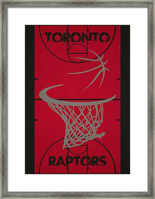 Toronto Raptors Court Framed Print by Joe Hamilton