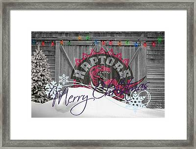 Toronto Raptors Framed Print by Joe Hamilton