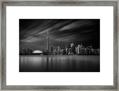 Toronto Skyline - 8 Minutes In Toronto Framed Print by Ian Good