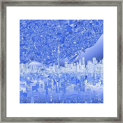 Toronto Skyline Abstract 4 Framed Print