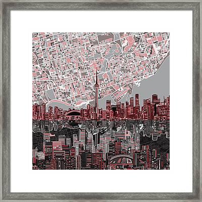 Toronto Skyline Abstract 5 Framed Print
