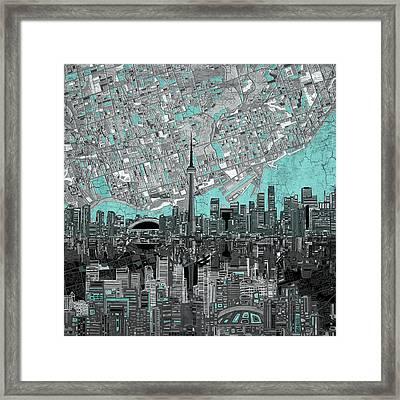 Toronto Skyline Abstract 6 Framed Print
