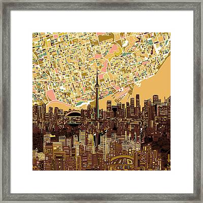 Toronto Skyline Abstract 9 Framed Print