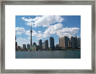 Framed Print featuring the photograph Toronto Skyline by Barbara McDevitt