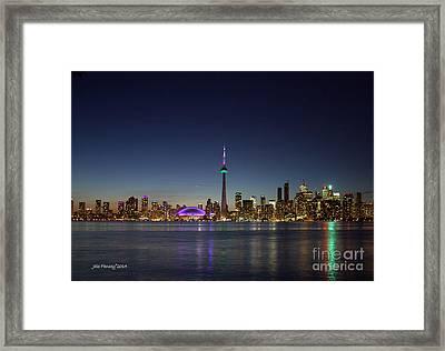 Toronto Skyline Colours Framed Print