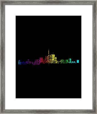 Framed Print featuring the digital art Toronto Skyline Gradient by Brian Carson