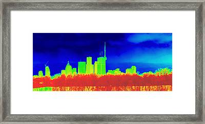 Toronto Skyline In Colors Framed Print