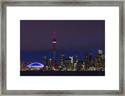 Toronto Skyline Framed Print