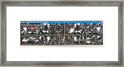 Toronto Subway Map Squirrels Framed Print by Alfred Ng